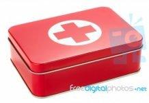 a-metal-first-aid-box