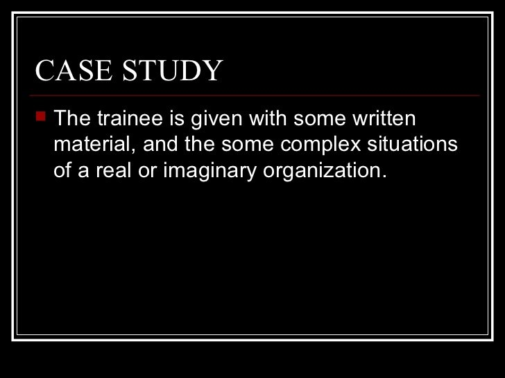 training-case-study